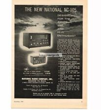 1961 National Radio Co NC-105 Receiver CB Short Wave HiFi Radio Vintage Print Ad