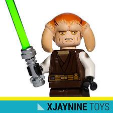 GENUINE LEGO STAR CLONE WARS Jedi Master Saesee Tinn Minifig + Lightsaber NEW