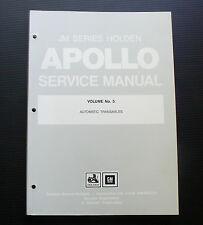JM APOLLO Holden Service Manual Volume No 5 Automatic Transaxles workshop repair