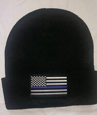 Subdued USA Flag Fold Over Knit Cap Beanie Hat tactical SWAT silver