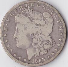 Dólar Morgan de 1893 CC' ' - USA CARSON CITY Mint-Plata 0.900