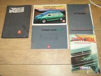 CITROEN XSARA PICASSO OWNERS MANUAL HANDBOOK PACK  2000 - 2004 FREE UK POSTAGE