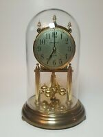 Howard Miller 9. in. Dual Chime Glass Dome  Mantel Clock W. Germany
