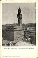 Florenz Firenze Italien Italia Toskana AK ~1900 Palazzo Vecchio Palast Gebäude