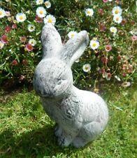 Rustic grey wash Rabbit Bunny ornament Garden Patio decorative