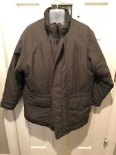 Vintage JBT J.T. Beckett Men's Green Winter Jacket Coat w/Leather Collar-XL (CL)