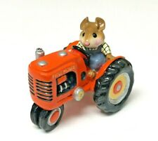 Wee Forest Folk Field Mouse Miniature on Orange Tractor Limited Store Special