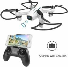 High Performance Radio Controlled Quadcopter Drone with 720p Camera - White 14+