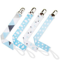 Baby Boys Girls Dummy Pacifier Soother Nipple Leash Strap Chain Clip Holder S