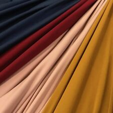 DTY Double-Sided Brushed Fabric 4 Way Stretch Jersey Knit Apparel Sold BTY