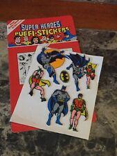 1981 DC COMICS Super Heroes Puffi Stickers Puffy Batman & Robin - Not Complete