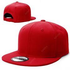Snapback Hat Classic Hip Hop Flat Brim Baseball Cap Solid Blank Trucker Army