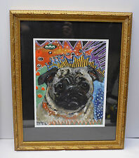 "Pop Art 18""x22"" Glass Framed ""Dog"" Print By MAD Studio, M. Durham, USA"