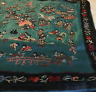 VTG Chinese Hand Embroidered Silk Pillow Case 15X15  Stunning Beautiful OOAK