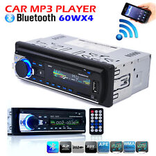 12V FM Car Stereo Radio Bluetooth 1 DIN In Dash Handsfree SD/USB AUX Head Unit