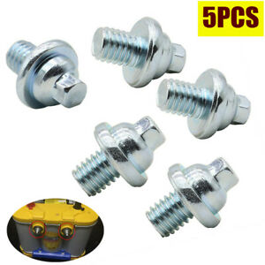 5Pcs/Set Stainless Side Post Battery Terminal M10 Bolt Replace Connecting Bolts