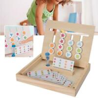 Wooden Four-Color Blocks Logical Thinking Training Children Puzzle Toy Game ❤lo