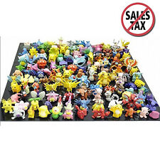 Pikachu Pokemon Action Figures Toy Lot 144 Pcs Go Mini 2 3 CM Monster Toys Set