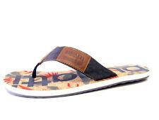 Scarpe da uomo infradito blu tessile