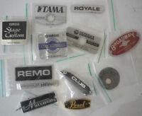 Drum Badges - Premier, Yamaha,  Pearl, Hayman,  John Grey, Maxwin, Remo, Mapex