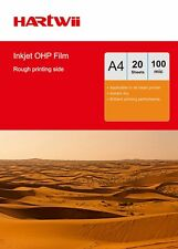 20 Sheet  Transparency OHP Film Acetate Clear with White Strip Inkjet Printer UK