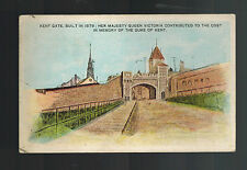 1908 Quebec Canada Postcard cover to England Kent gate Castle