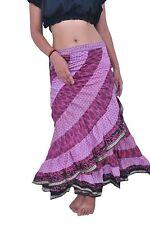 Women Saree Tribal Wrap Skirt 3 Pcs Assorted (Jalebi skirt)