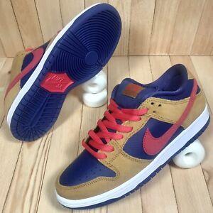 Nike SB Dunk Low Pro Reverse Papa Bear Pelle Hat Wheat Skate Shoes Men's Size 7