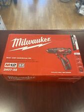NEW Milwaukee 2407-22 M12 12-Volt Lithium-Ion Cordless 3/8