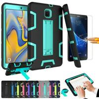 Armor Shockproof Kickstand Tablet Case For LG Samsung IPad with Tempered Glass