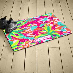 Lilly-Pulitzer-Summer Indoor Outdoor Rug Mat Anti-Slip Bath
