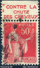 FRANCE BANDELETTE PUB PETROLE HAHN SUR N° 283 AVEC OBLITÉRATION