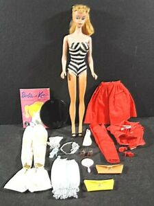 Vtg Ca 1960 BARBIE DOLL Lot – includes Booklet