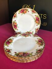 "6 x Royal Albert Old Country Roses Salad Plates 8.25"" 2nd Quality Last 4 Sets"
