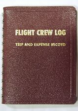 Red Flight Crew Log,  #1 Choice of Airline Pilots, FAA & IRS Approved, Free Ship