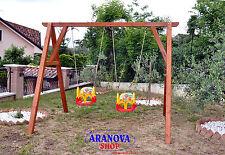 """Altalena in legno in pino lamellare """"Sofia 2 posti"""""""