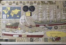 Mariners Chart Lithograph Poster 'Tull Graphic Ltd' London