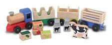 Melissa & Doug - Wooden Farm Train Play Set with Removable Cargo