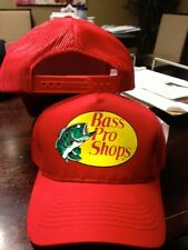 NEW! RED Cap by BASS PRO SHOPS Adult  MESH Trucker Hat adjustable  B