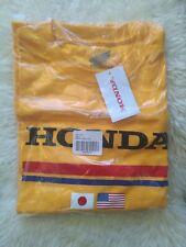 Official Honda Track Racing Gold USA Japan Flag Tee Men's Size XL NWT