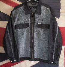 Davoucci mens vintage denim furry jacket size 2XL FTOshop