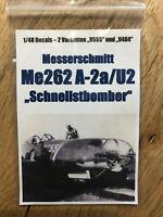 1/48 Decals Messerschmitt Me262 A-2a/U2 Schnellstbomber -Hobbyboss Dragon Tamiya