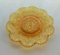 "Brockway Glass Amber American Concord Sandwich 6 1/2"" Saucer Cup Under Plate"