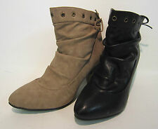 Women's Synthetic Pull on Cuban High Heel (3-4.5 in.) Boots