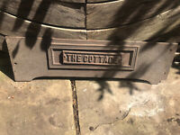 """Victorian Cast Iron Sign """"the Cottage"""" House Name Fireplace Range Kitchen"""