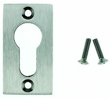 Profilzylinder-Rosette Eckig Edelstahl Bohrabstand 45mm Schutzrosette