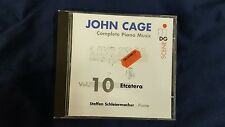 CAGE JOHN  - COMPLETE PIANO MUSIC  VOL. 10 ETCETERA. CD