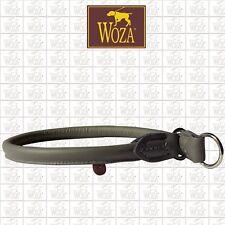 WOZA Premium Rundgenähter Würger Vollleder Lederhalsband Rindnappa Chocker W3014