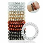 12PCS Rubber Telephone Wire Hair Ties Spiral Hair Head Elastic Ponytail Holder