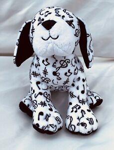 Ganz Webkinz Black White Music Note Dog Dalmatian Plush Stuffed Toy No Code